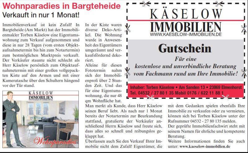 Wohnparadies in bargteheide markt zeitung m rz 2012 for Immobilienmakler vermietung